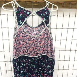 UMGEE USA•L•Double Strap•Open Back•Floral Print